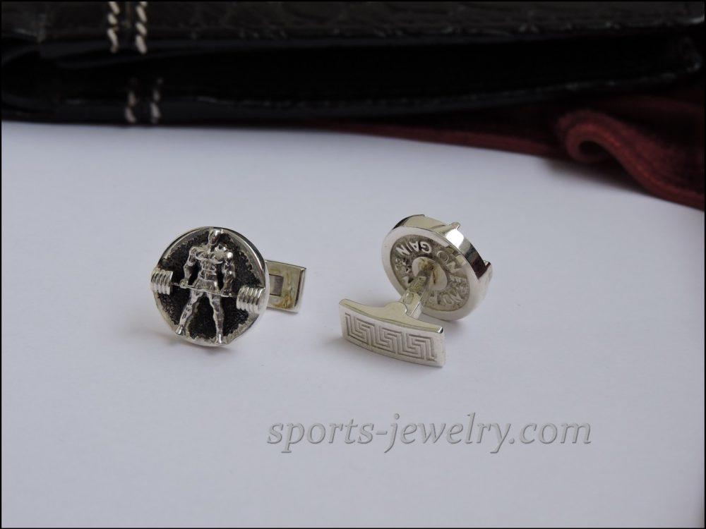 Weightlifting jewelry Deadlift cufflinks