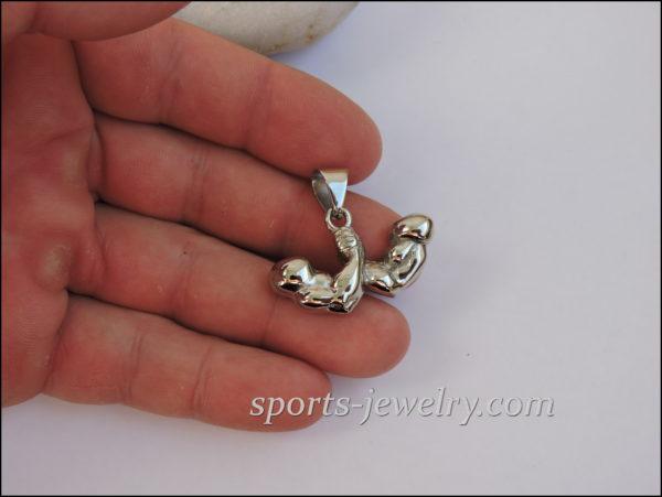 Arm wrestling necklace Muscle wrestling