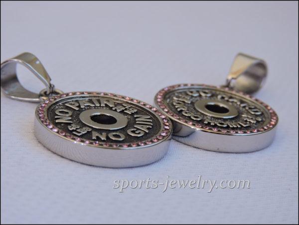 Gym jewelry Bodybuilding gift Fitness jewelry