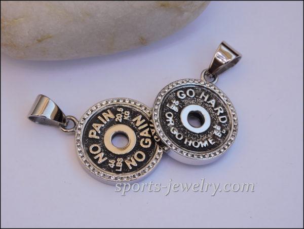 Gym jewelry Fitness jewelry Crossfit gift