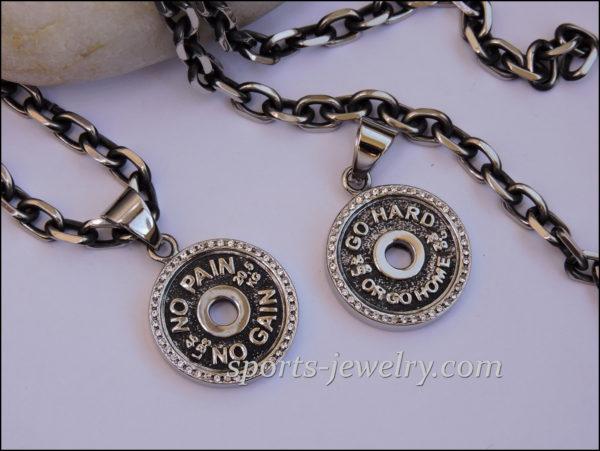 Gym jewelry Fitness jewelry Sports pendants