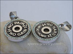 Gym jewelry Sports pendants
