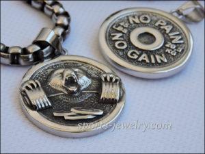 Gym jewelry Weightlifting necklaces Sports keychain