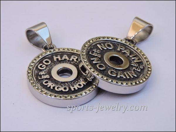 Sports jewelry Gym jewelry Crossfit gift