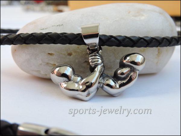 Sports pendants Sports jewelry Muscle wrestling