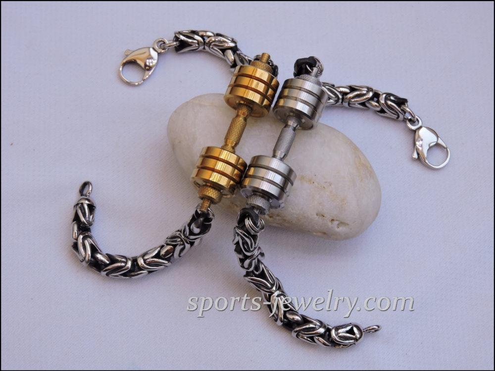 Barbell bracelet Dumbbell bracelet..