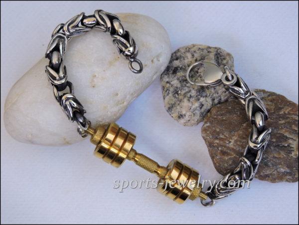 Barbell bracelet. Dumbbell bracelet