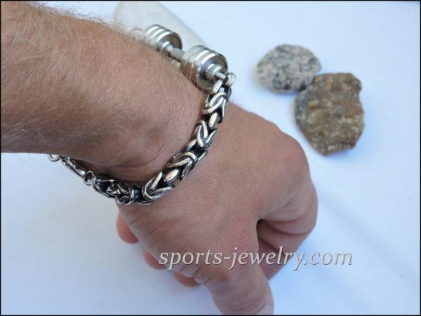 Bodybuilding bracelet Dumbbell bracelet