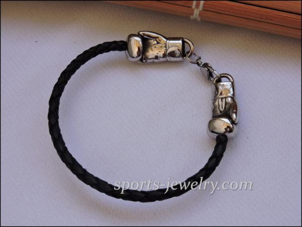 Boxing bracelet Golden gloves jewelry