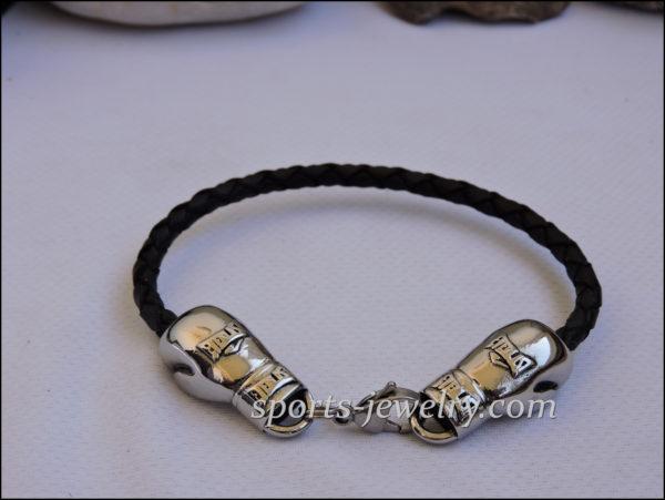 Boxing glove bracelet Gold box chain