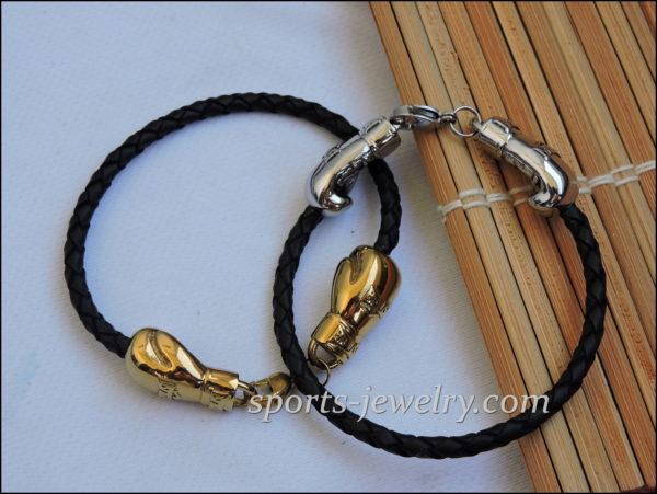 Boxing glove bracelet Golden gloves jewelry