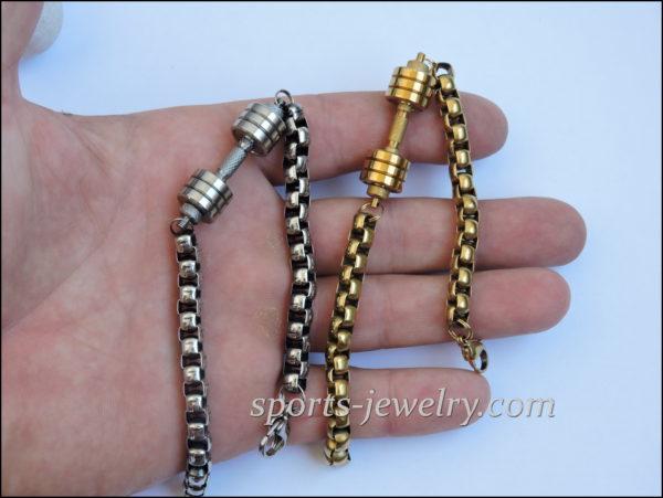 Bracelet dumbbell Titanium sports bracelet Gym gifts
