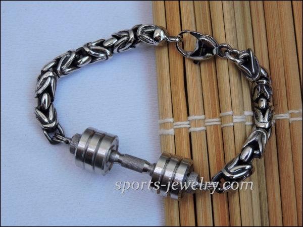 Dumbbell pendant bracelet Powerlifting bracelet