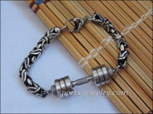 Dumbbell bracelet pendant Weightlifting bracelet