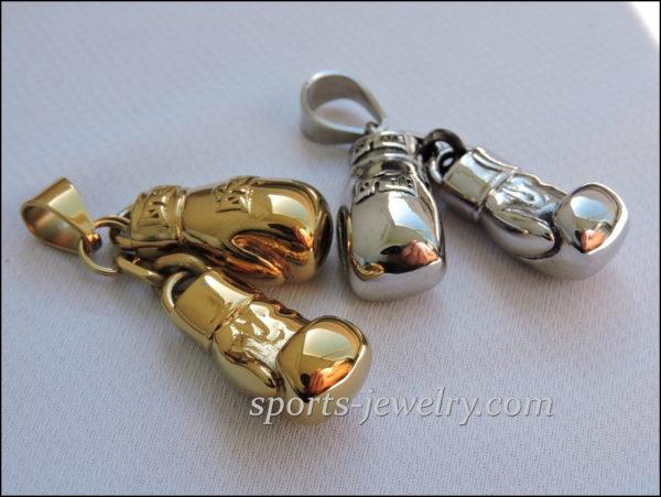 Golden gloves necklace Glove jewellery