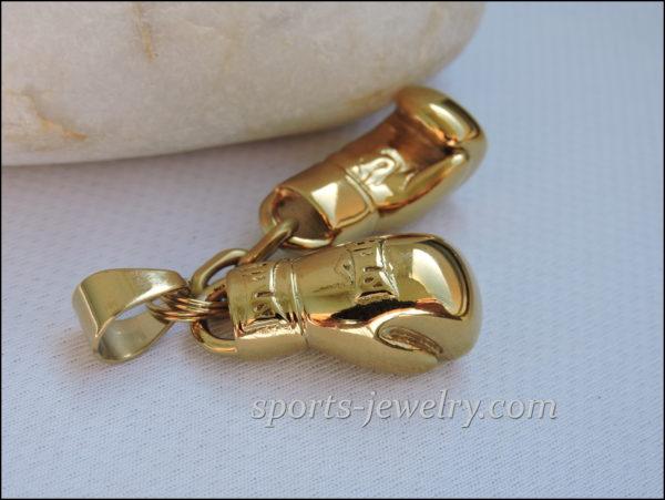 Golden gloves necklace Glove necklace