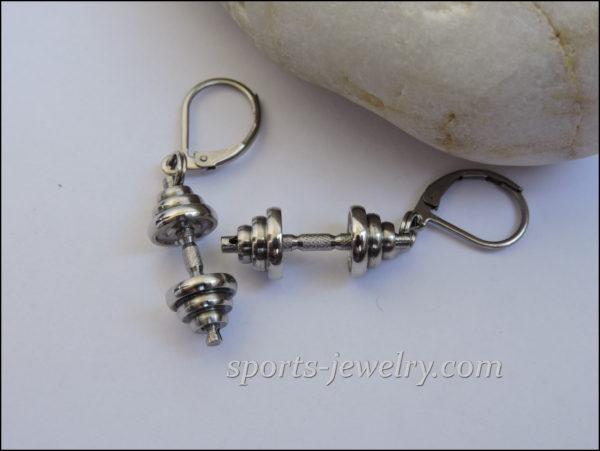 Gym gifts Dumbbell earrings