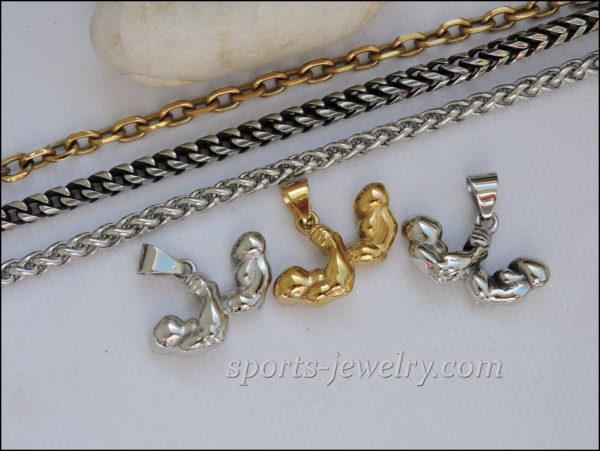 Gym gifts Sports keychain Sports jewelry