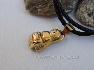 Mma jewelry gold Ufc pendant