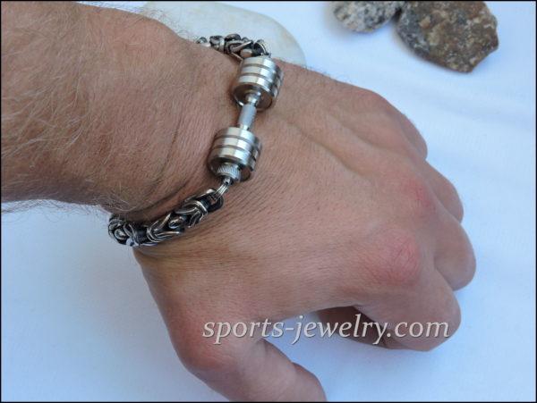 Powerlifting bracelet Dumbbell bracelet Dumbbell pendant