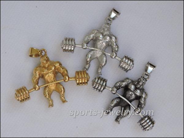 Sports pendants Bear pendant Gym gifts