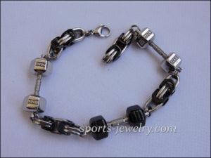 Weight lifting bracelets Mens dumbbell bracelet
