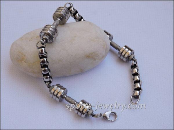 Weight lifting bracelets Weightlifting bracelet dumbbell pendant