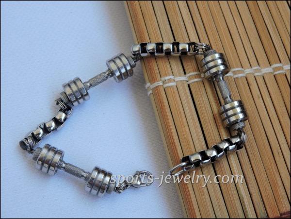 Weightlifting bracelet Barbell bracelet