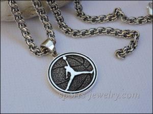 Basketball necklace Silver