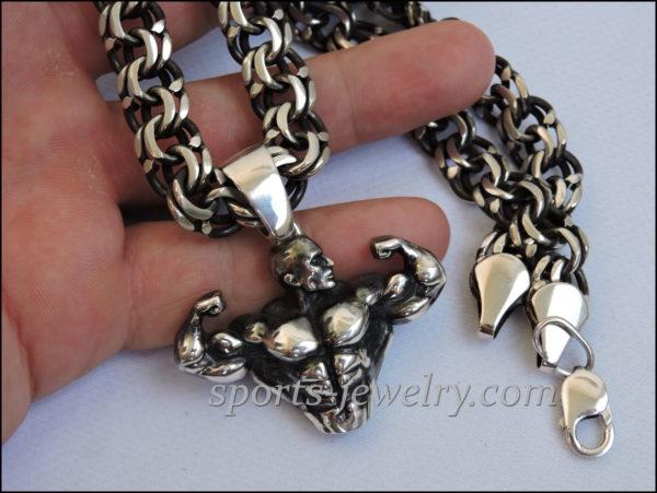 Bodybuilding chain jewelry