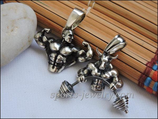 Bodybuilding jewelry chain