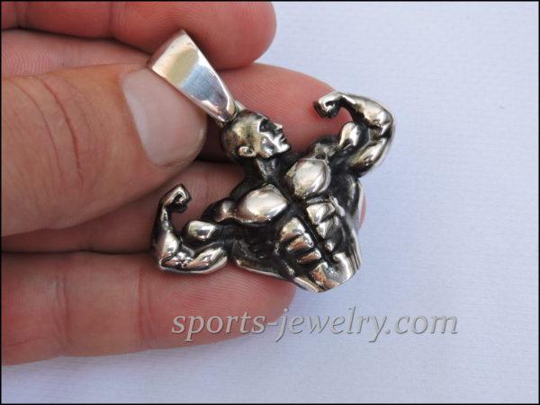 Bodybuilding jewelry pendant