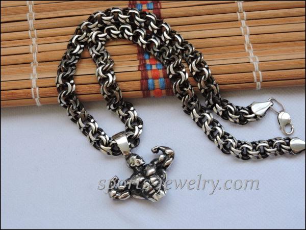 Bodybuilding necklace jewelry Sports pendants