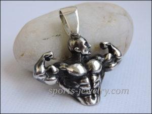 Bodybuilding pendant jewelry