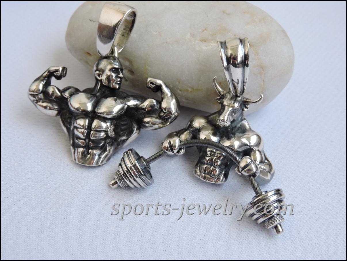 Bodybuilding pendant jewelry Sports pendants
