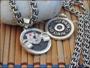 Gym necklace Bear necklace