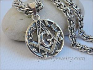 Masonic necklace Silver