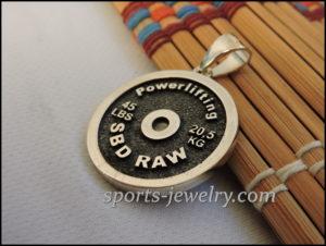 Powerlifting gift jewelry