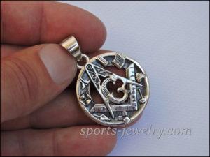 Silver Masonic necklace