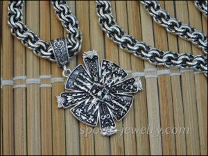Silver Slavic cross