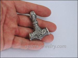 Silver Thor's hammer pendant