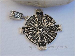 Slavic cross Photo Silver