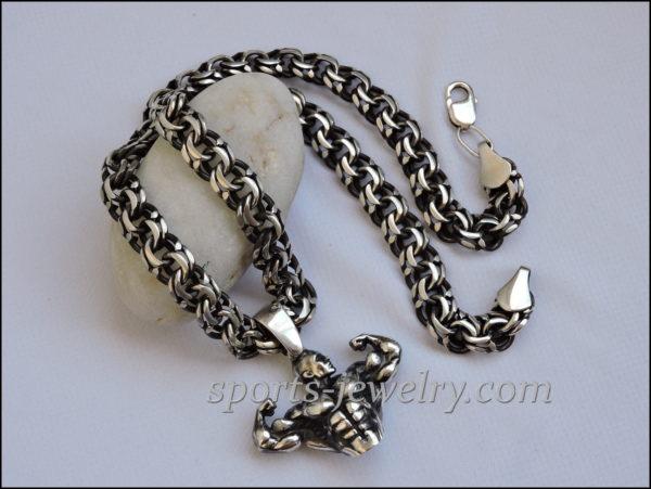 Sports pendants Bodybuilding chain jewelry