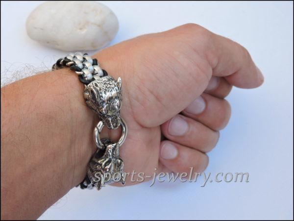 Stainless steel Photo Wolf bracelet