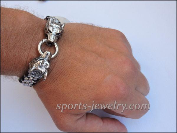 Stainless steel Wolf bracelet
