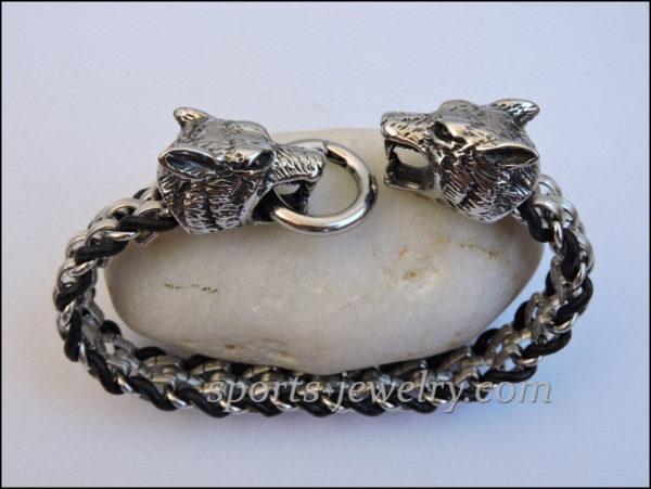 Wolf bracelet Photo Stainless steel