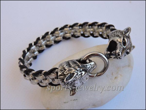 Wolf bracelet Stainless steel