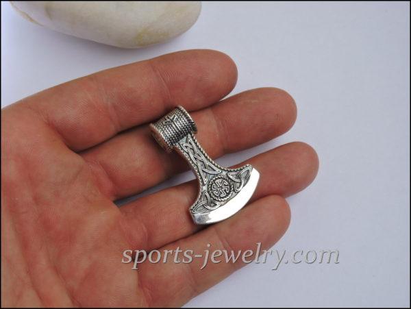 Axe pendant Axe necklace silver