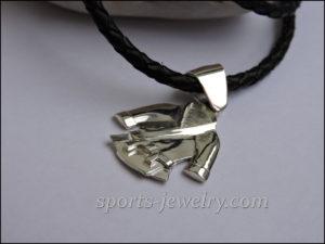 Karate pendant necklace