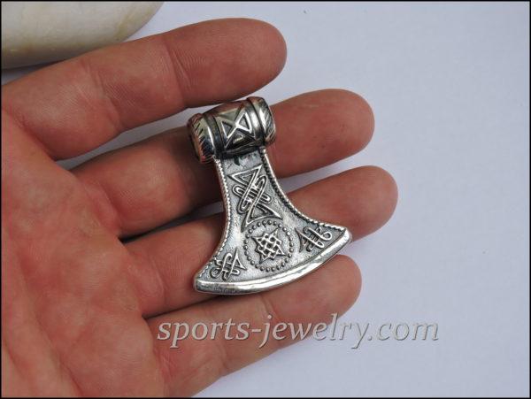 Silver axe pendant